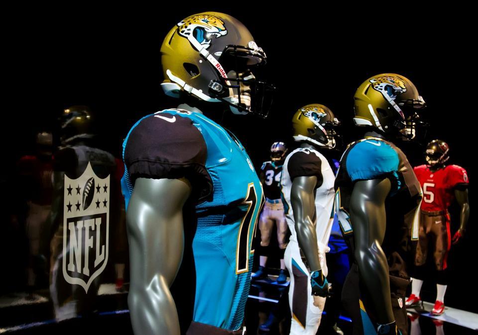 Jaguars New Helmet 2013 Three New NFL Uniforms...