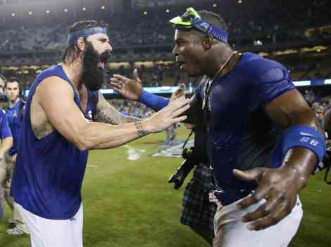 Brian Wilson and Yasiel Puig